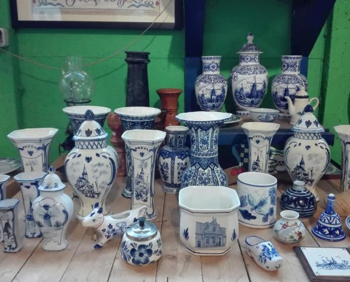 Delfts blauw kringloopwinkel Friesland
