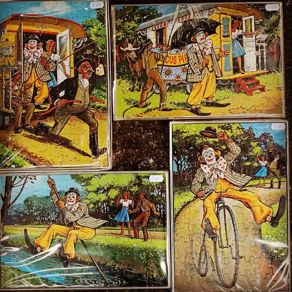 Vintage puzzel Pipo de Clown kringloopwinkel Friesland